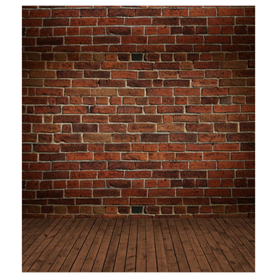 3x5ft Vinyl Photography Background Brick Wood Wall Floor Backdrops Studio Props