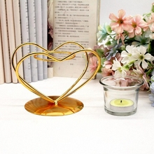 PINNY European Iron Geometric Candle Holder Romantic Metal Nordic Candlesticks Home Decoration Accessories Craft