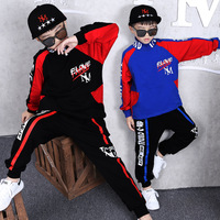 Kids Tracksuit Spring Big Boys Clothing Set Turtleneck Tops Haren Pants Children hip hop Costumes 6 8 10 12 Years