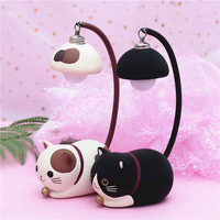 BRIGHTINWD Night Lamp Kids Room Decoration Lamps Cute Cat Table Lights For Baby Kids Christmas Gifts Bedroom Cartoon Room