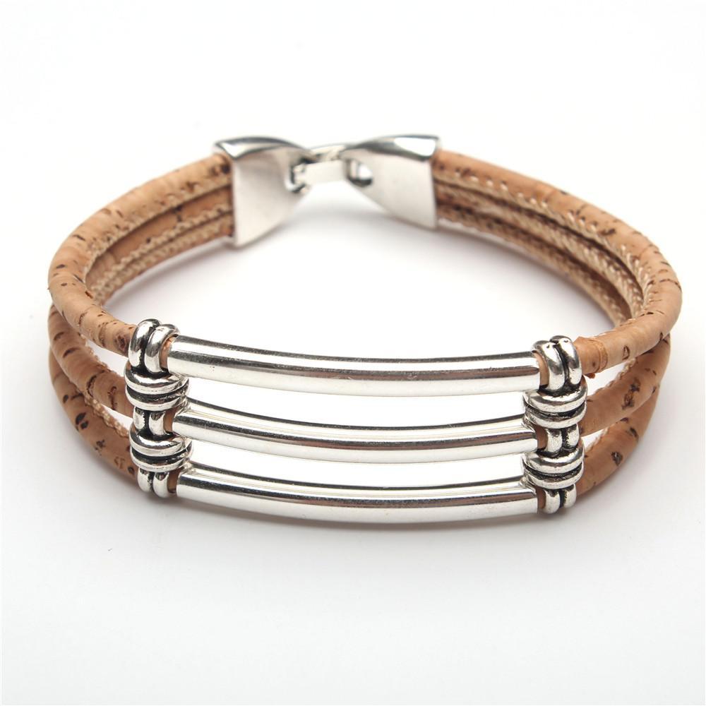 Cork Jewelry: Portugal Pulseras Cork Jewelry Cork Bracelets Three Cork