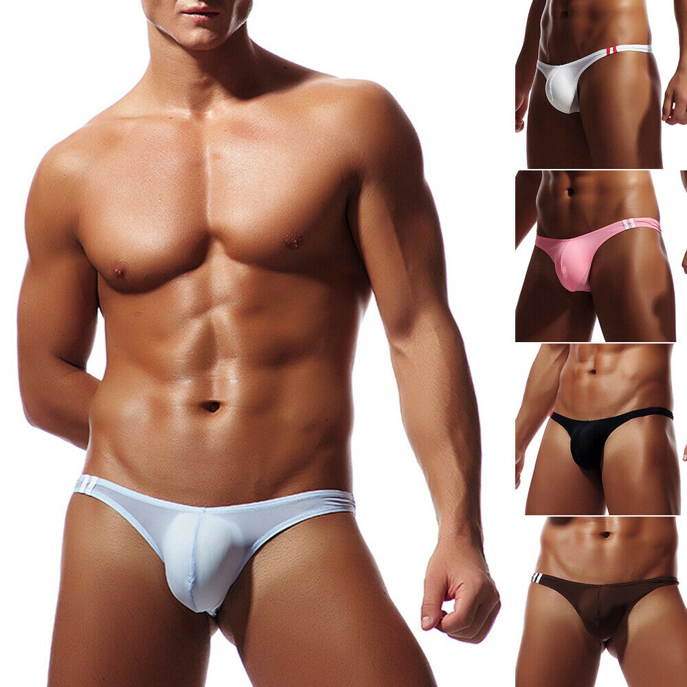 2019 Men's sexy Boxer Briefs Thongs Underwear Cool Pouch Bikini Underpants M-XL  Briefs