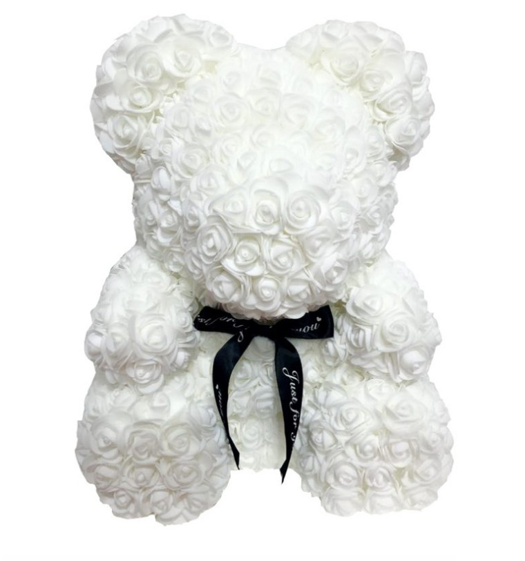 Nice 40cm Bear of Roses Valentines Day Gift Artificial Flowers Home Wedding Festival DIY Wedding Decoration Gift Wreath Craft in Party DIY Decorations from Home Garden