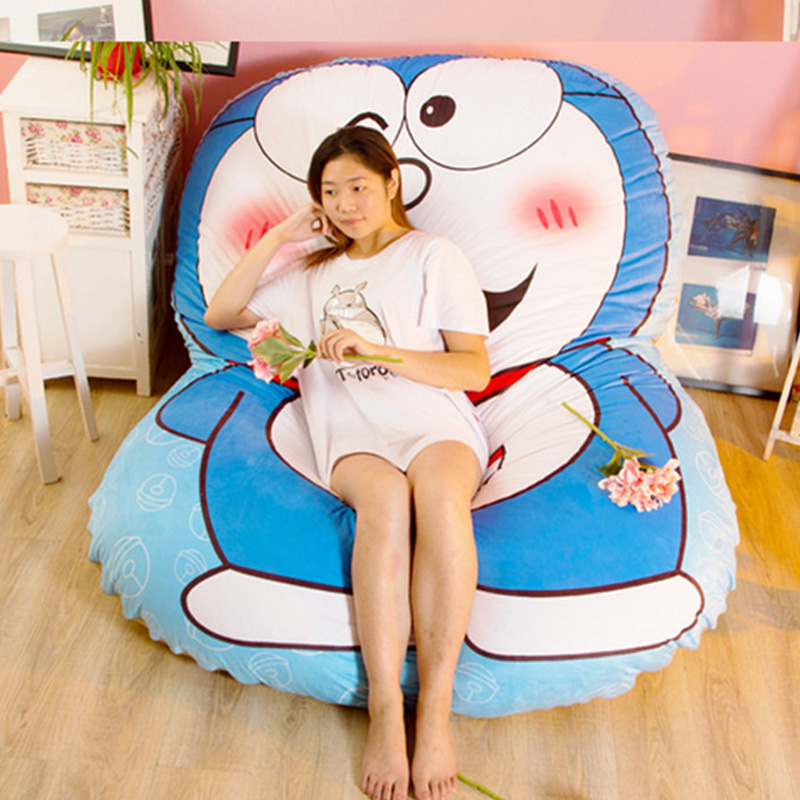 Fancytrader Anime Soft Doraemon Sleeping Bed Stuffed Plush Tatami Mattress Sofa Best Xmas Gifts for Children