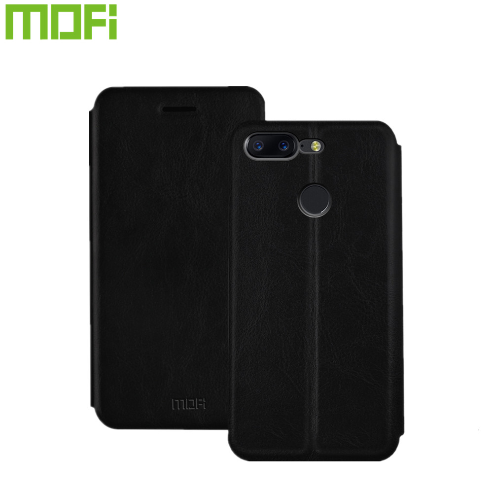 For OnePlus 5t one plus 5t Case Mofi Fashion Flip PU Leather Cell Phone Cover For OnePlus5T A5010 (6.01 inch) Stand Case