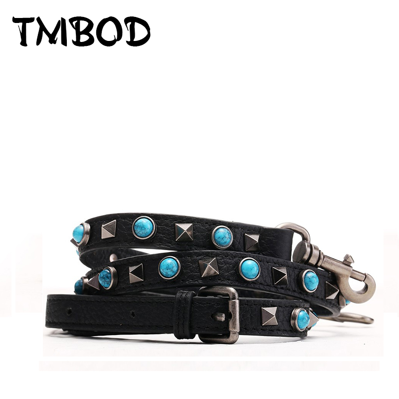 New 2018 Popular Thin Studs Belts Split Leather Straps For Female Rivets Trim Shoulder Strap You Classic Vintage Strap j023