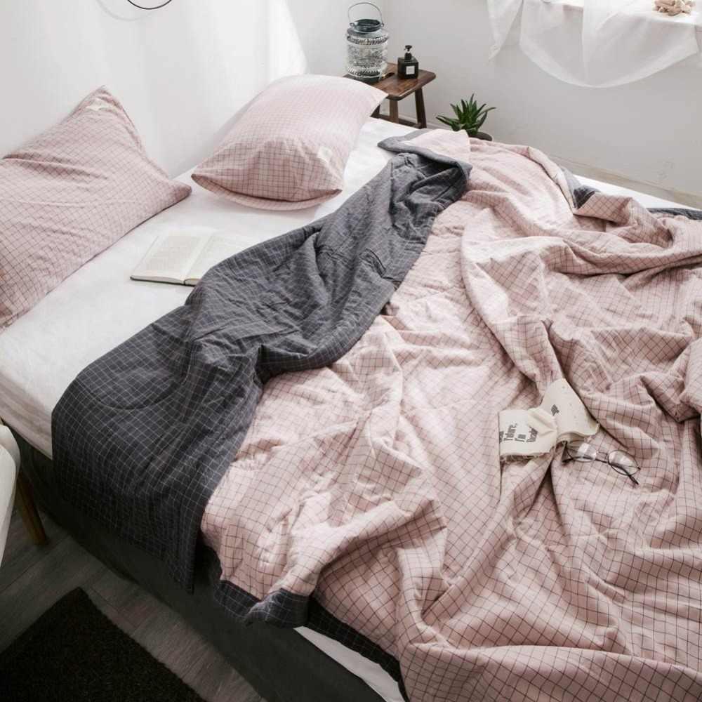 2019 Thảm Phủ Ánh Sáng Hồng Quilting Quilt Khâu Bông Vải 100% Cotton Phụ Đôi Nữ Hoàng Vua Không Khí-điều kiện Mùa Hè Comforter