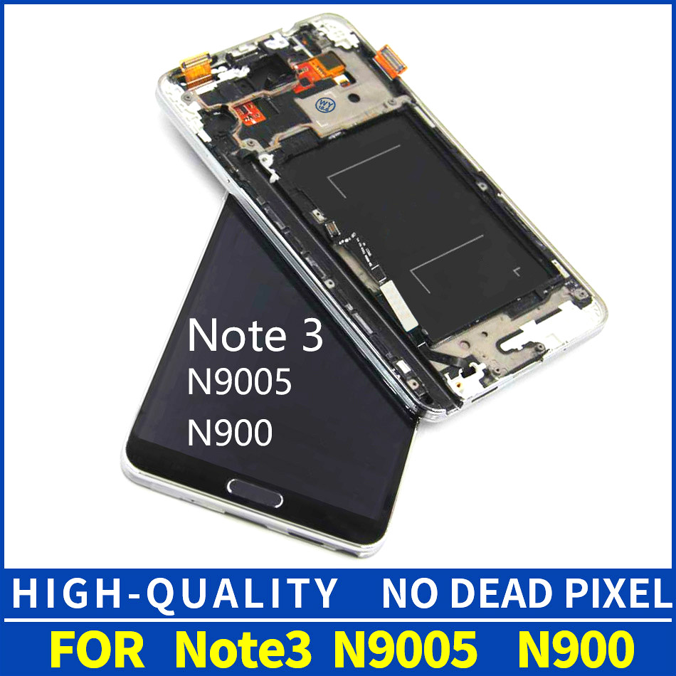For Samsung Galaxy Note3 N9005 LCD Display Screen with Touch Digitizer assembly Replacement Note 3 N9005 With Bezel FrameFor Samsung Galaxy Note3 N9005 LCD Display Screen with Touch Digitizer assembly Replacement Note 3 N9005 With Bezel Frame