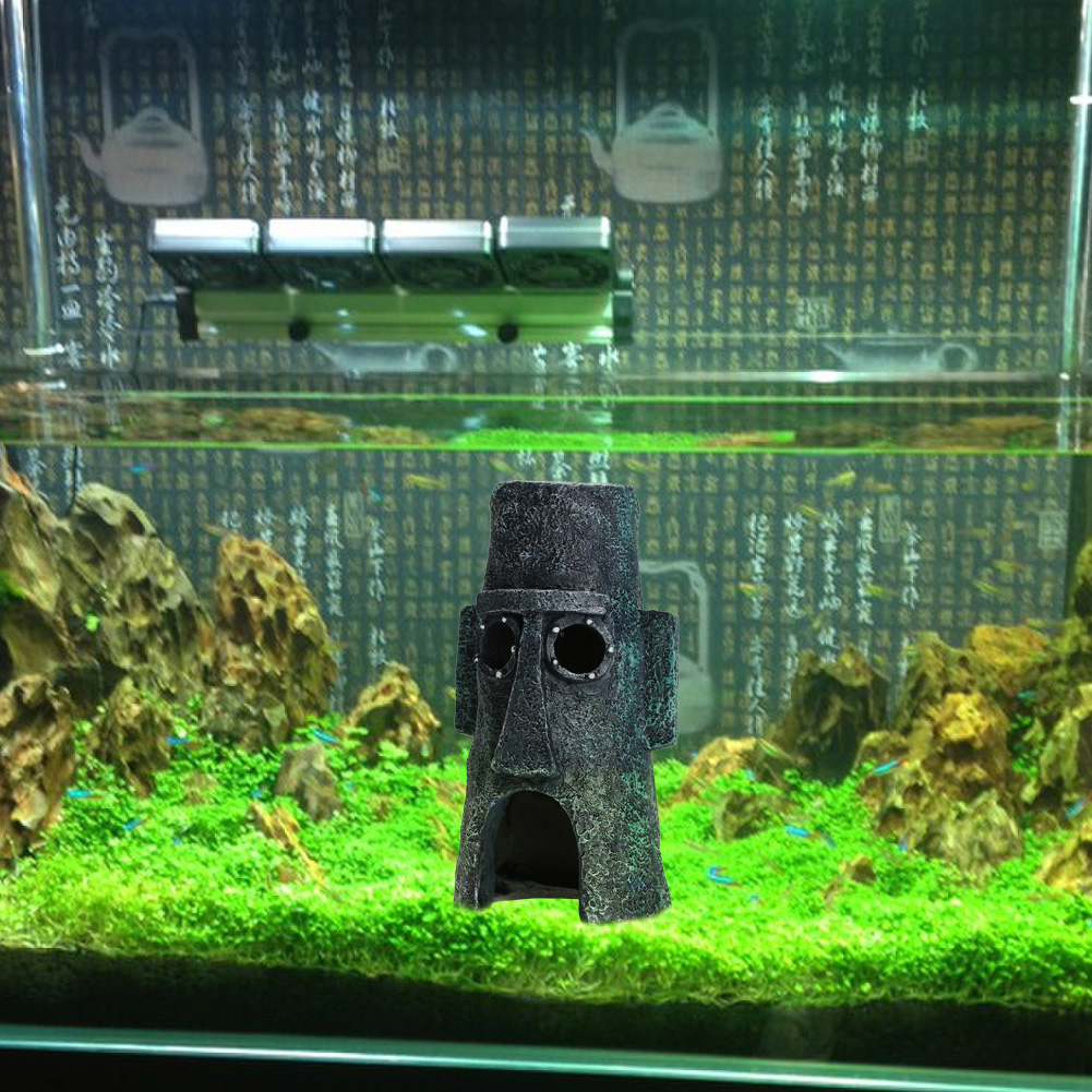1pcs house shape fish tank ornament