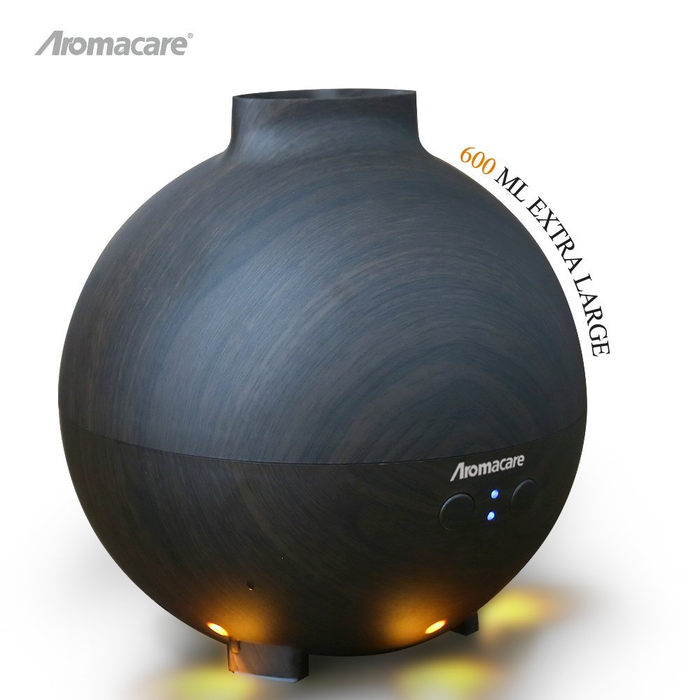 цена на Aromacare 600ml Air Humidifier Essential Oil Diffuser Aroma Lamp Aromatherapy Electric Aroma Diffuser Mist Maker for Home-Wood