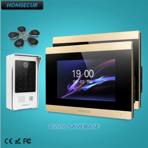 HOMSECUR 7 Hands-free Video Door Entry Security Intercom+Outdoor Monitoring+Motion Detection+Touch Screen Monitor