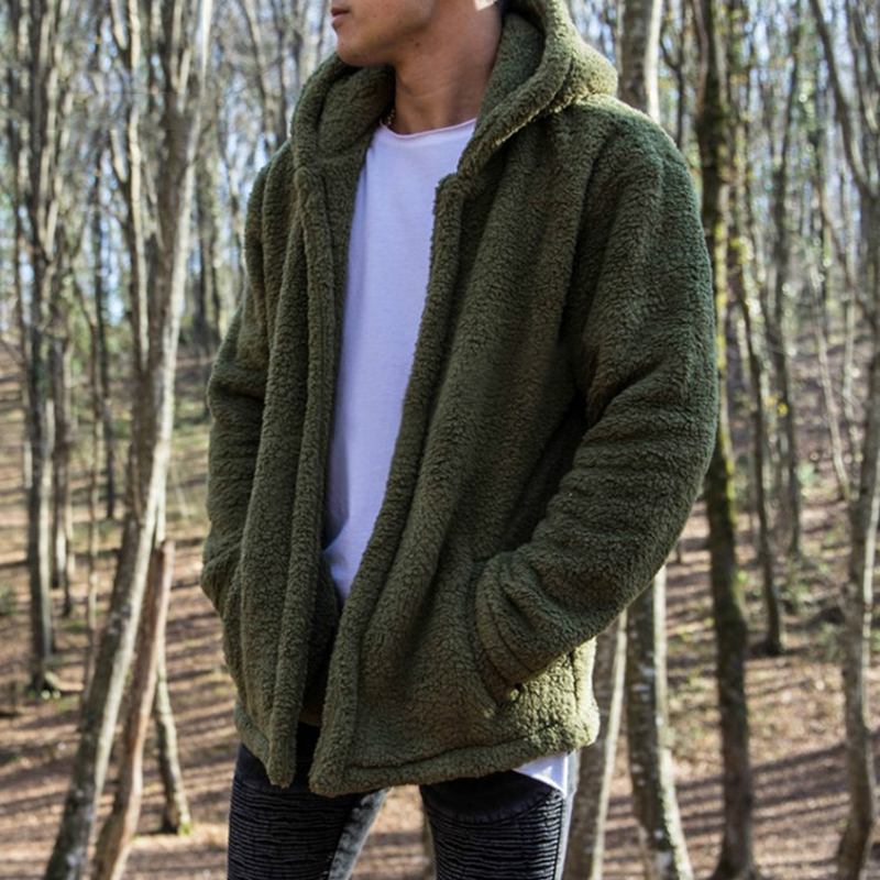 DIMUSI Bomber Cardigan Jacket Men Brand Winter Thick Warm Fleece Teddy Coat For Mens SportWear Tracksuit Male Fleece Hoodies