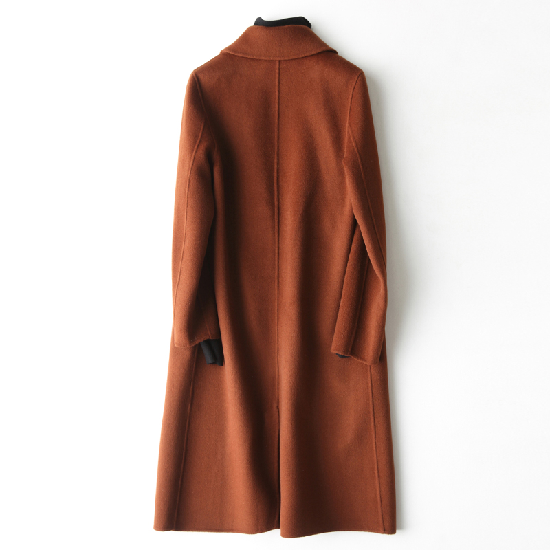 2019 Pardessus Femmes Orange mixed dark red 100 Couleur Cachemire Solide camel Main Green À mixed Vestes En Beige Automne mixed Manteaux Pur Long La D'hiver Laine light caramel Gray Trench Navy Gray qtrtT