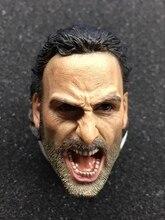 1/6 Rick Grimes Head Sculpt The Walking Dead For Hot Toys Male Figure
