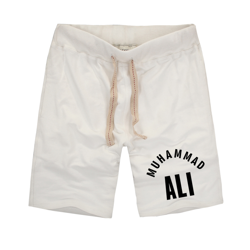 2018 Estate MUHAMMAD ALI Pantaloncini da uomo unici Pantaloncini da fitness Pantaloncini di marca Pantaloncini da uomo vintage in cotone di alta qualità