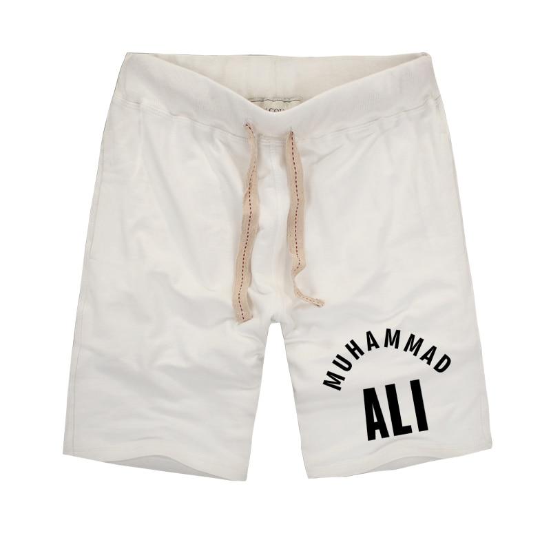 2018 Ljeto MUHAMMAD ALI Jedinstvene muške kratke hlače Fitness bokserice Brand Odjeća Kratke hlače Vintage visoke kvalitete pamuk kratke hlače