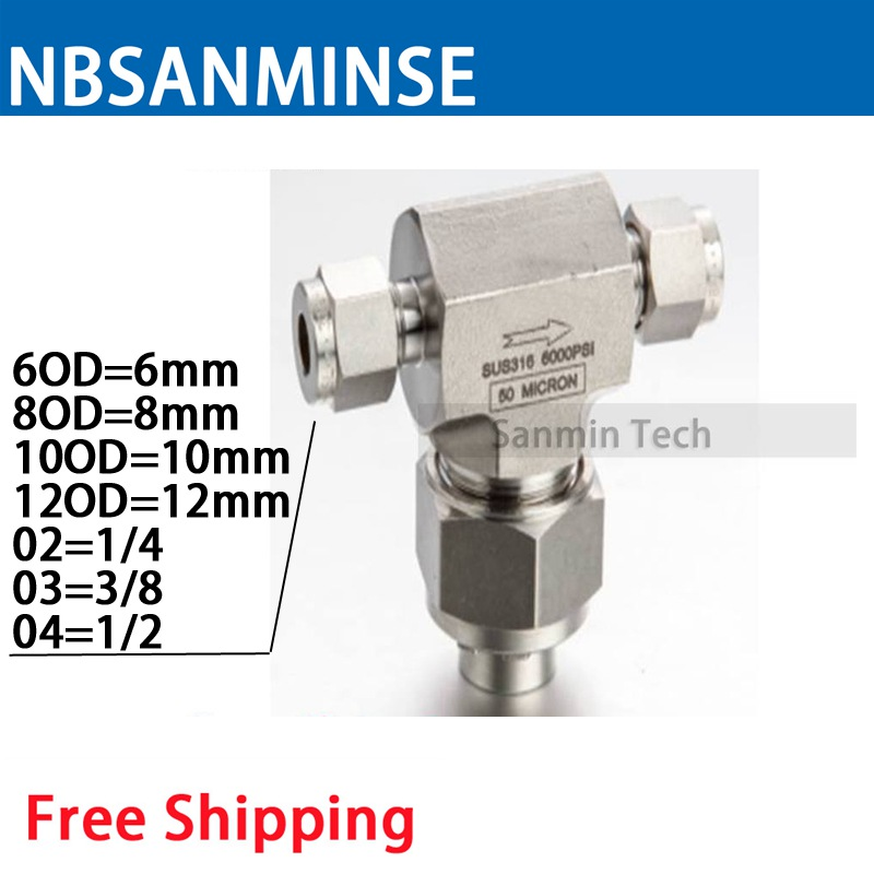 1 PC FLT - OD 1/4 3/8 1/2 Three Way Stainless Steel Valve Tube End Connection Type High Quality Sanmin supermill 3 8 4 flt alcrona all purpose high performance carbide end mill