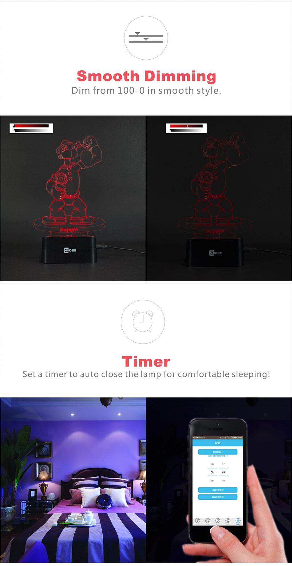 CNHIDEE Lampada Decorativa USB Desk 3D Night Lamp Bluetooth Music Led Table Lamp as Creative Gifts for Cartoon Popeye Fans (6)