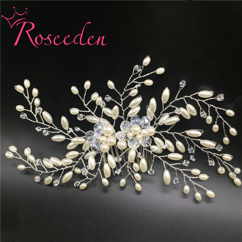 Wedding Hair Comb Accessories Bridal Luxury Charms Pearl Jewelry