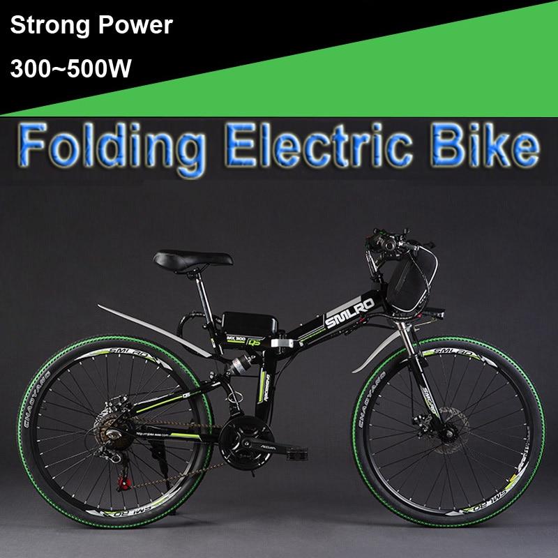 26 48V 300W/500W 12/15/20AH Lithium Battery Folding Electric Bicycle, Mountain Bike, Electric Bike, MTB E Bike (Bag Type)