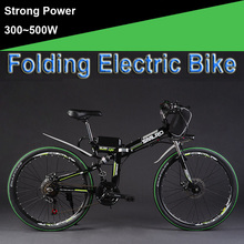 26″ 48V 300W/500W 12/15/20AH Lithium Battery Folding Electric Bicycle, Mountain Bike, Electric Bike, MTB E Bike (Bag Type)