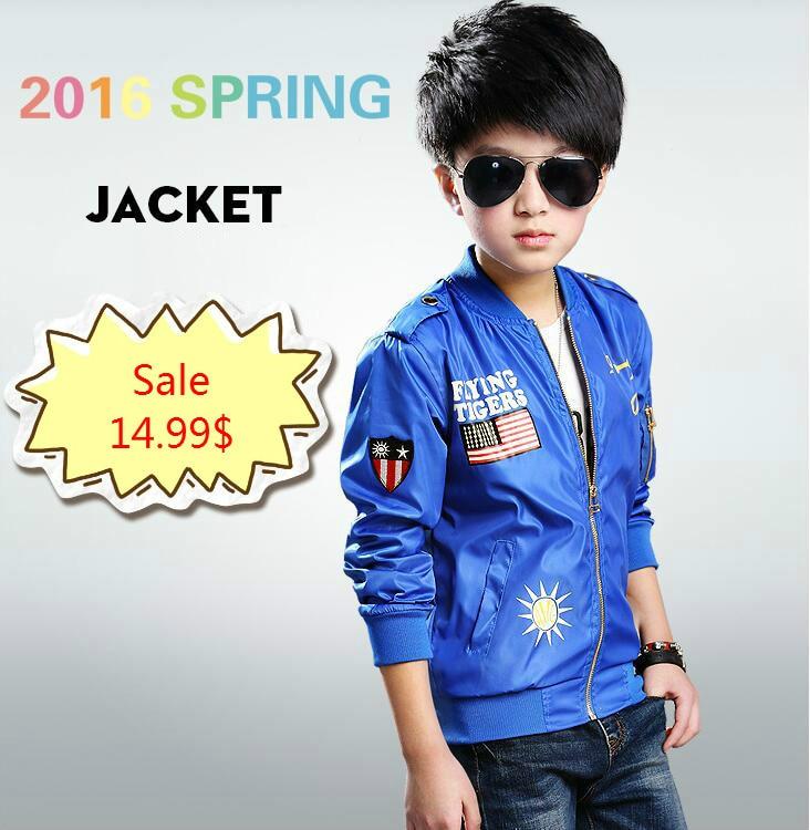4f5bd1d36 2016 Spring Children Jackets Boys Coats Kids Outerwear Windbreaker ...