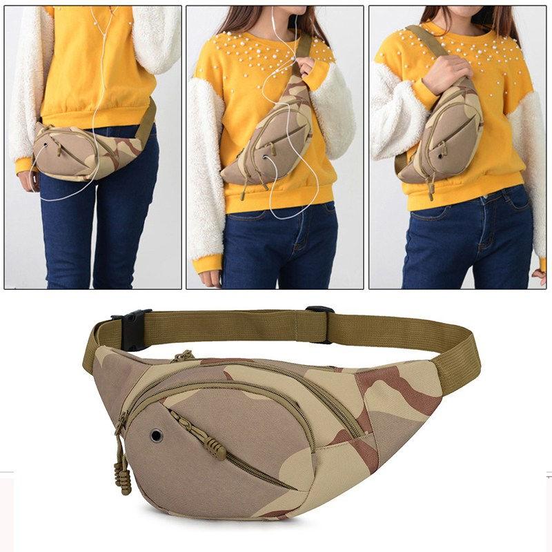 Running Bag Nylon Sports Chest Shoulder Bags Belt Bum Pouch Unisex Waistbag Hiking Zip Bag Fanny Pack