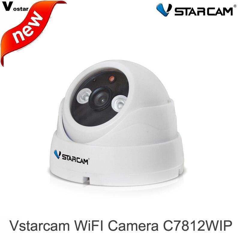 ФОТО VStarcam HD 720P WIFI C7812WIP IP Camera ONVIF IR cut 20m wireless indoor infrared dome security cameras suport 128G TF card