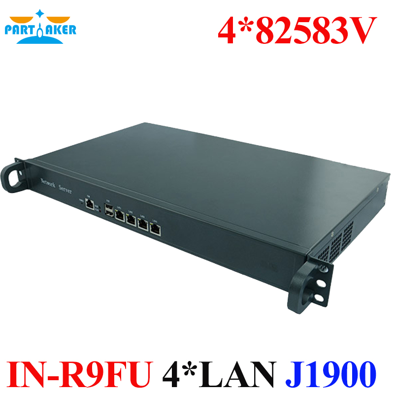 Firewall J1900 Router mit 4 82583 V LAN IU Standard Rack Montage Pfsense Server TEILHAFTIG