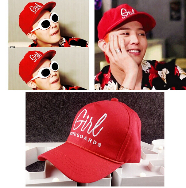 2016 NEW ARRIVED  harejuku BIGBANG GD baseball cap fashion cap Hip hop hat