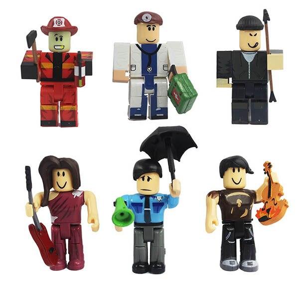 Roblox Police Firemen 9cm 374 Action Figures Brinquedo Pvc Doll