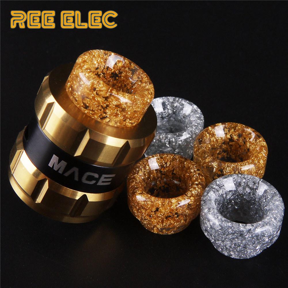 REE ELEC Resin 810 Atomizer Drip Tips For Electronic Cigarette Rda Rba Tank Wide Bore Drip Tip For Vape Pen nigel long 510 drip tip with 9 holes for atomizer drip tip mouthpiece for rda rdta tank vape electronic cigarette accessories