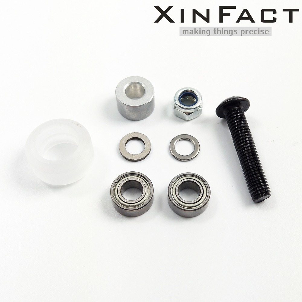 Poly Carbonate Small V wheel Kit for Openbuilds V Slot rail OX CNC V Slot Xtreme