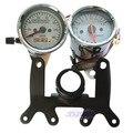 Dual Odometer Tachometer W Bracket Universal Gauge Set Fit Motorcycle Speedometer