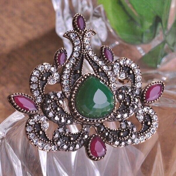 Parfait Vintage turque broche Broches Corsage chapeau accessoires femmes du  parti cadeau Broches broch Hijab Pins