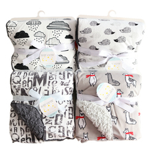 Детское одеяло новый бренд Сгущает Двойной Слой коралловый флис Младенческая пеленка конверт накидка для детской коляски для новорожденных постельные принадлежности одеяло s