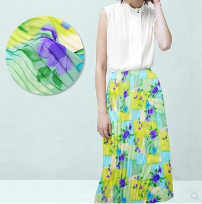 Tissus en mousseline à coudre pour robes patchwork, tissu au mètre, tissu satiné imprimé procédé floral tecido, C089