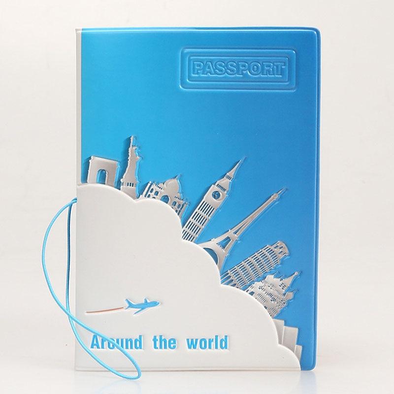 OKOKC Travel Around The World Passport Cover Fashion Beautiful Passport Folder PVC Protective Cover Travel Accessories