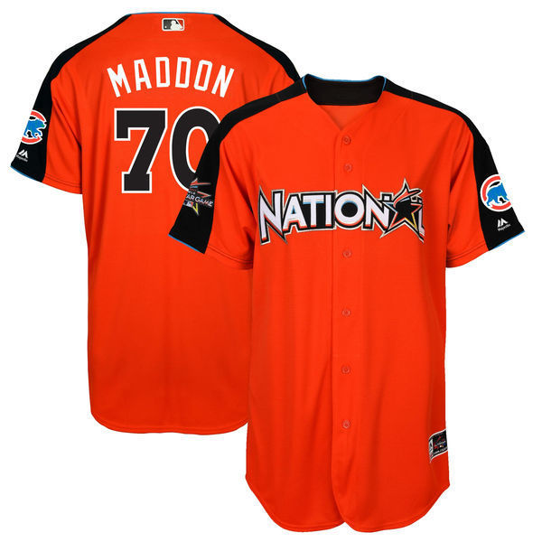MLB Mens National League Joe Maddon Orange 2017 MLB All-Star Game Home Run Derby Player  ...