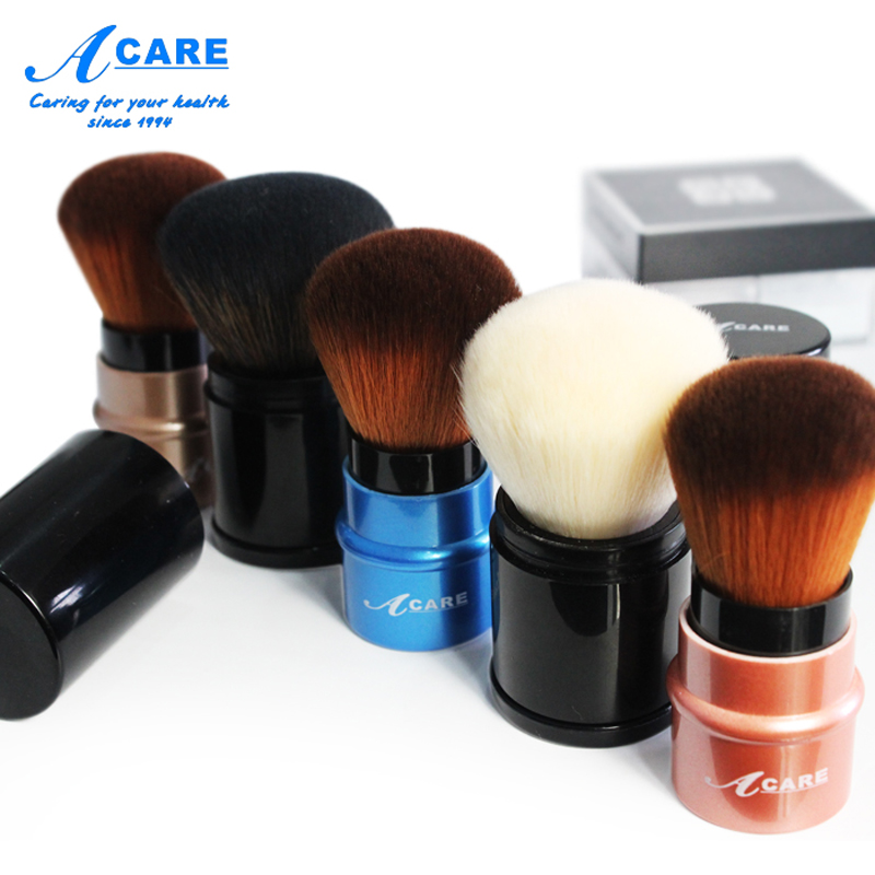 Blush Makeup Brush Portable Retractable Pro Foundation Cosmetic Blusher Face White Hair Powder Brushes Beauty Tools Maquiagem pro 12pcs makeup brushes set pincel maquiagem powder contour blush face kabuki brush cosmetic beauty tools goat hair with bag
