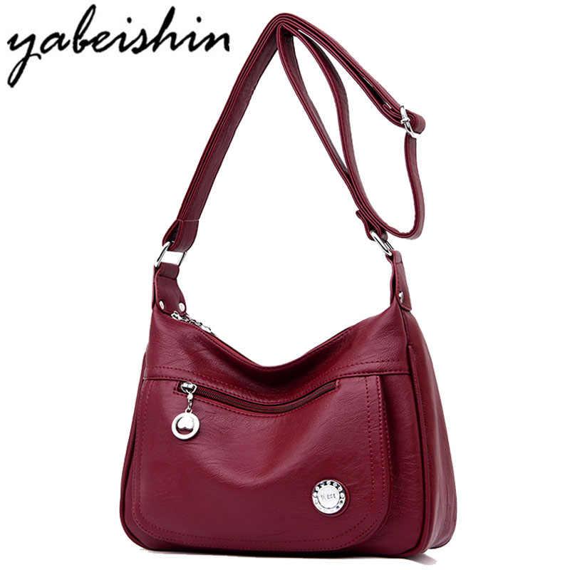 Hot Women Leather Handbags Luxury Women Bags Designer 2018 Female Messenger  Bags Bolsa Feminina Tote Ladies c10cabcf38