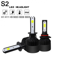 2Pcs 6000K H1 LED H11 H8 HB4 H4 9003 HB3 S2 Auto Car Headlight Bulbs 72W 9005 White LED Headlight Hi/ Lo Beam Head Lamp for Cars 110w set 9200lm car led headlight truck head lamp conversion kit 9005 hb3 6000k white bulbs single beam replace halogen hid kit
