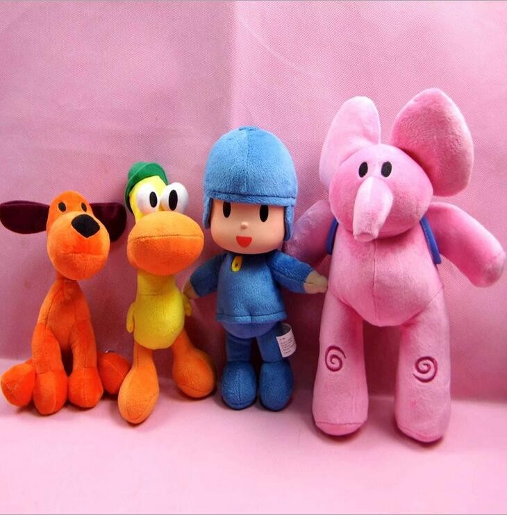 4pcs/lot 14 to 30 cm New Kids Brinquedos Gift POCOYO my cute little Stuffed Plush poni Toys Cute Dolls Stuffed Figure Toy Anime color monkey plush toy soft toys for girls birthday gift dolls anime brinquedos kawaii animal stuffed toys plush cute 70c0525
