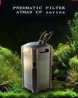 ATMAN CF 600 external mute filter barrel for aquarium Fish tank air pressure filter for 50 80cm fish tank 18W 740L/H