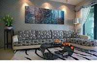 Modern Original Art Indoor Decor Metal Wall Art Abstract Painting Sculpture Indoor Outdoor In 5 Pieces