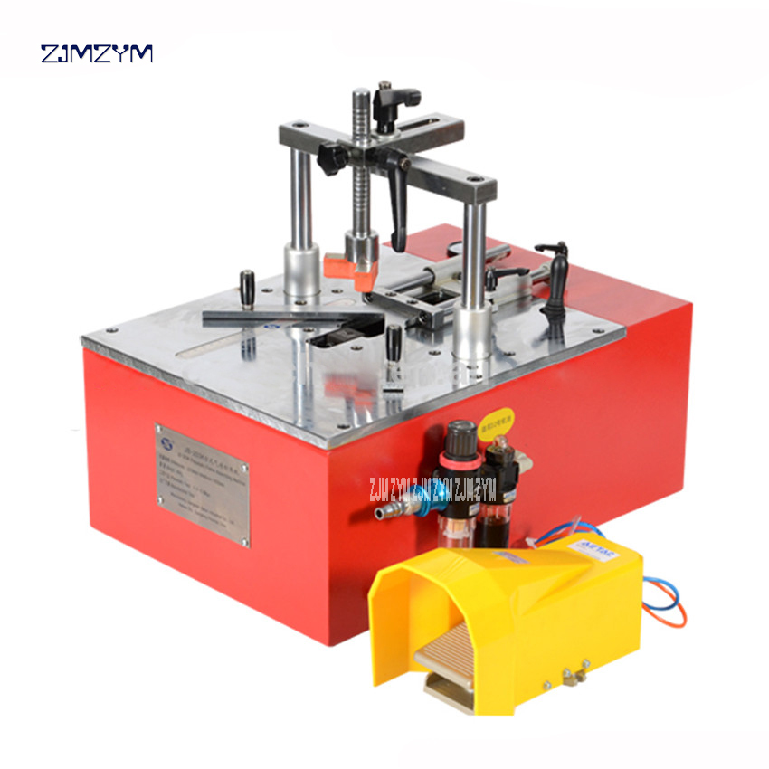 JS203K 5212 Bench-top Photo Picture Frame Joint Machine ,underpinner For PS MDF Wood Frame Seamless Pneumatic Nail Angle Machine