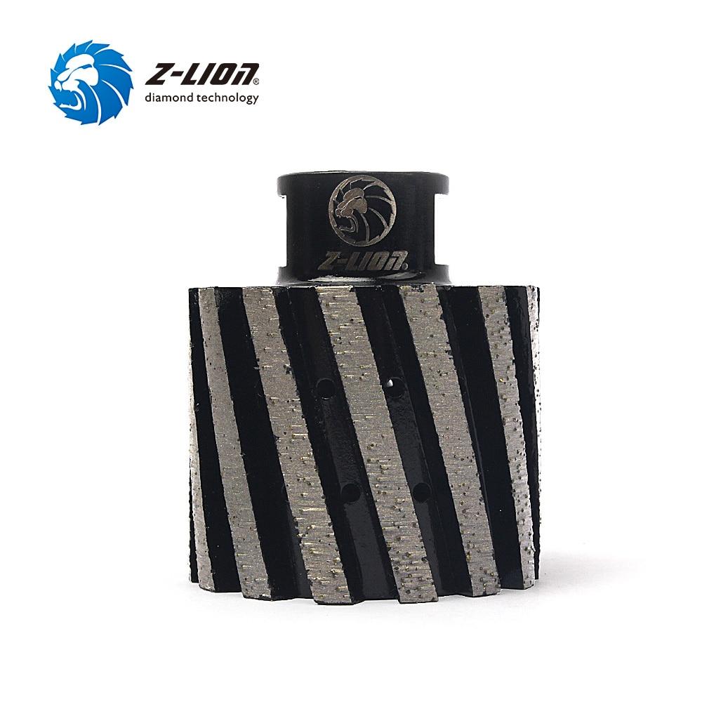 Z-LION 2 Zero Tolerance Diamond Drum Wheel 50mm Metal Segmented Finger Bit For Granite Marble Hole Grinding Wheel zero tolerance 0630