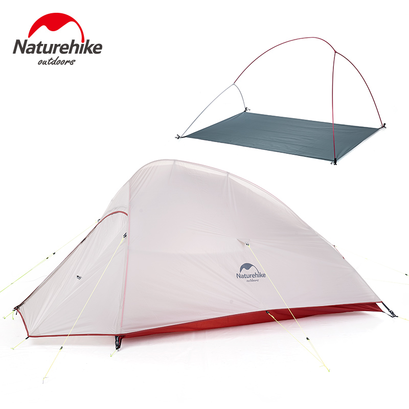 Naturehike CloudUp Series Ultralight Hiking Camping Tent 20D Fabric For 2 Person With Mat Outdoor Traveling Equipment 2