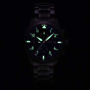 Image 2 - AILANG Luminous Men Sports Automatic Watches Self Wind Calendar Wrist watch Workable 3 Eyes 6 Hands Analog Relojes 3ATM NW7202