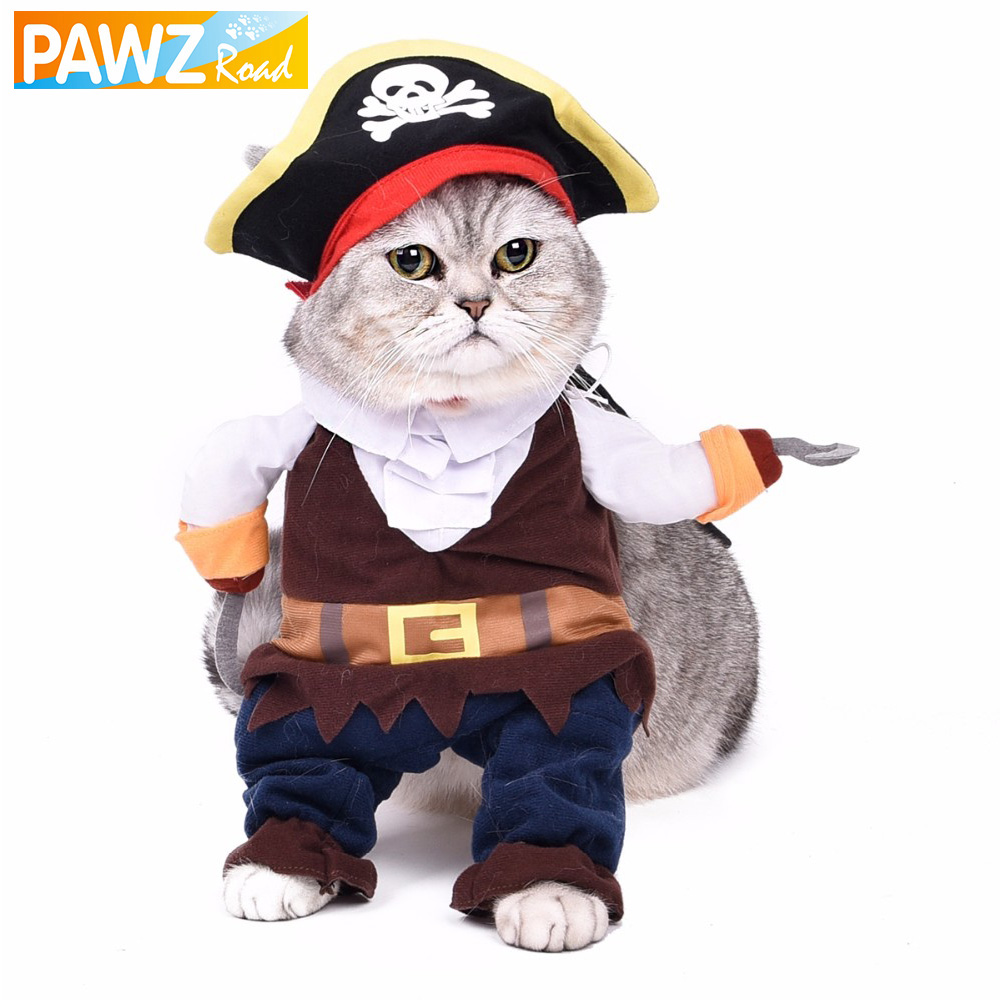 Funny Cat Clothes Pet Costume Play Puppy Role Play Cute Small Dog Pirates Clothing Kitten Hat Dog Apparel Cat Toy Suit ...